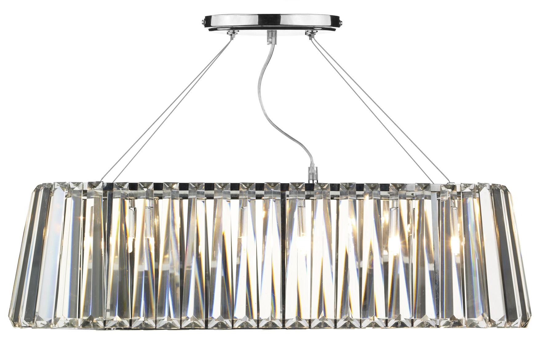 Cecilia 3 Light Crystal Ceiling Pendant