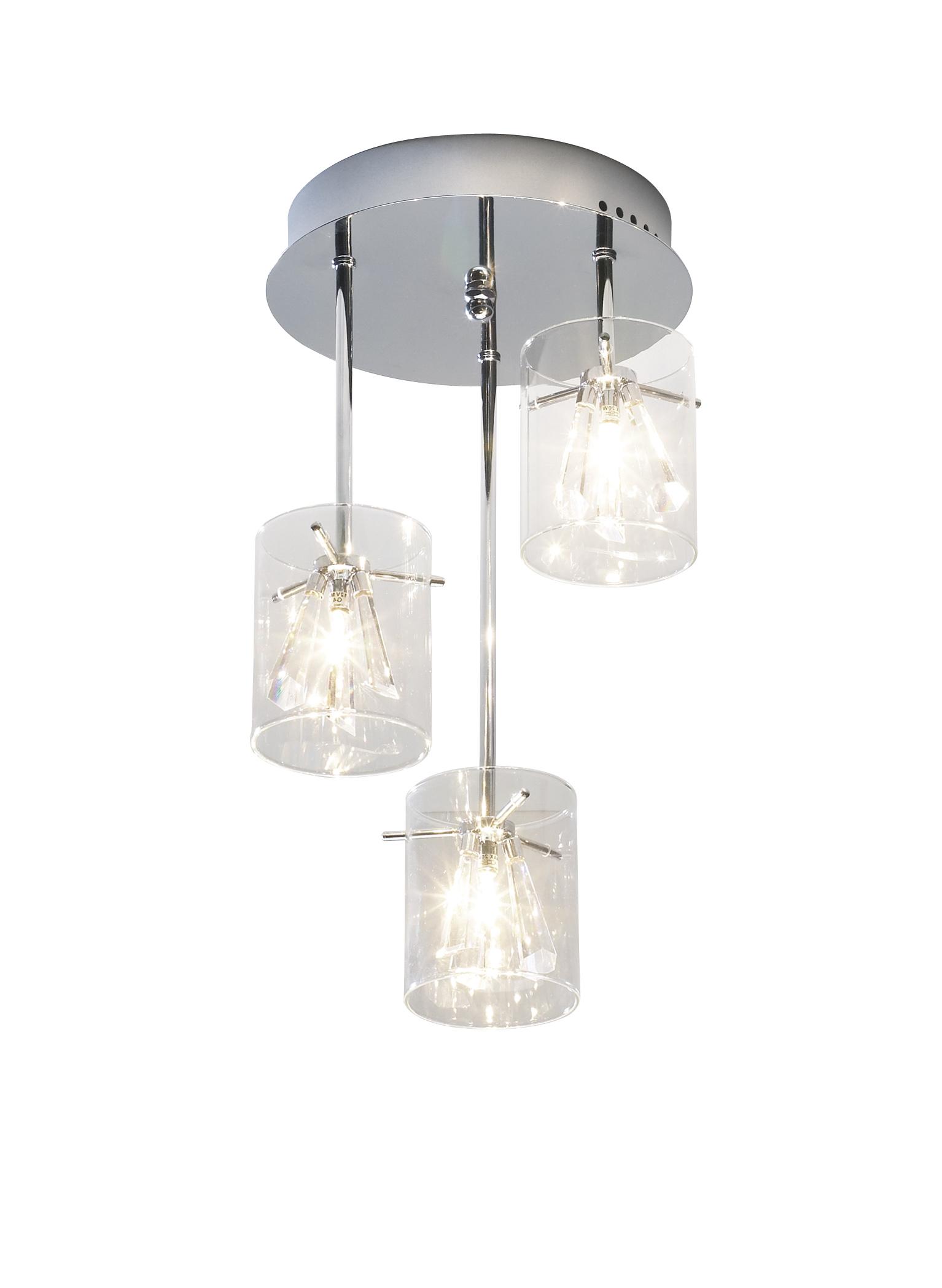 Somerset 3 Light Modern Crystal Pendant Light Ceiling
