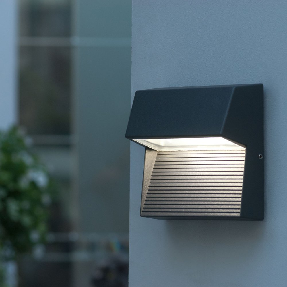 Lutec Lighting Radius Sp Sq Square Cree Led Wall Light